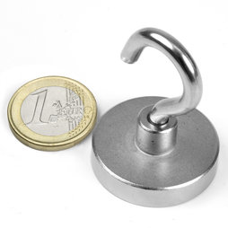 FTN-32, Hook magnet, Ø 32 mm, Thread M5, strength approx. 30 kg