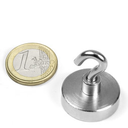 FTN-25, Hook magnet, Ø 25 mm, Thread M4, strength approx. 18 kg
