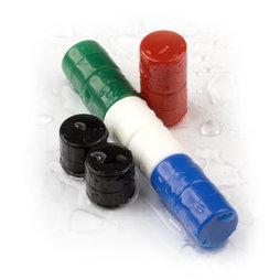 M-DISC-01, Disc magnets with plastic cover Ø 9,4 mm, 10 per set, various colours