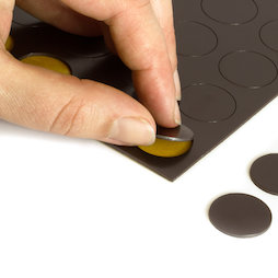 MS-TAKKI-05, Takkis round 20 mm, self-adhesive magnetic dots, 24 pieces per sheet
