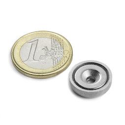 CSN-ES-16, Countersunk pot magnet, Ø 16 mm, strength approx. 6,9 kg