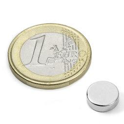 S-09-03-N52N, Disc magnet Ø 9 mm, height 3 mm, neodymium, N52, nickel-plated