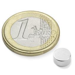 S-06-03-N, Disc magnet Ø 6 mm, height 3 mm, neodymium, N45, nickel-plated