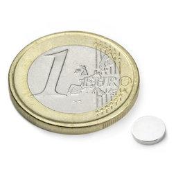 S-06-01-N, Disc magnet Ø 6 mm, height 1 mm, neodymium, N45, nickel-plated