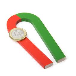 EDU-6, Horseshoe tapered, 100 x 48 mm, AlNiCo5, red-green coated