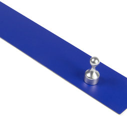 MB-19/blue, Magnetic strip self-adhesive 80 cm, self-adhesive surface for magnets, metal, blue