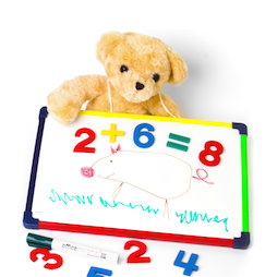 KMWB-2435, Children's whiteboard 24 x 35 cm, for drawing, playing, writing & learning, magnetic