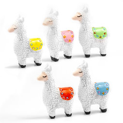 LIV-134, Llama, fridge magnets in llama shape, set of 5