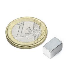 Q-10-06-06-Z, Block magnet 10 x 6 x 6 mm, neodymium, N45, zinc-plated