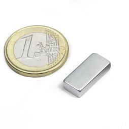 Q-18-08-04-Z, Block magnet 18 x 8 x 4 mm, neodymium, N45, zinc-plated