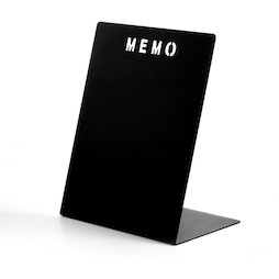 MB-21, Memo board MEMO black, made of powder-coated metal