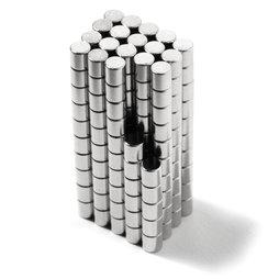 S-02-02-N, Disc magnet Ø 2 mm, height 2 mm, neodymium, N48, nickel-plated