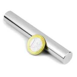 S-15-100-N, Rod magnet Ø 15 mm, height 100 mm, neodymium, N35, nickel-plated
