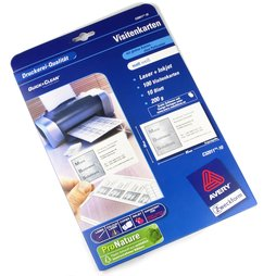 M-34, Avery Zweckform C32011, blank business cards for magnetic name tags, package of 10 sheets